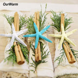 OurWarm Hawaii Party Decorations Resin Finger Starfish Artificial Starfish Beach Wedding Decor DIY Craft Hanging Ornament
