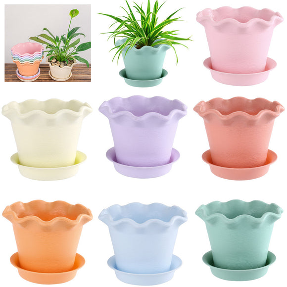 Colorful Resin Flower Pots for Succulent Plants for Home Office Decor