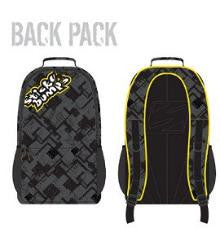 Sticky Bumps Back Pack with logo black grey yellow white for surfers