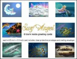 Surf Angel Greeting Card Set of 8 perfect gift and super sweet for surfer girls