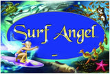 Surf Angel collection of hair clips, book and cd, sparkle sprinkles, posters, jewelry, necklaces and greeting cards for the good surfer girl, super sweet gifts, from california