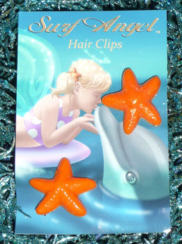 Surf Angel Star Fish Hair Clips - Set of 2