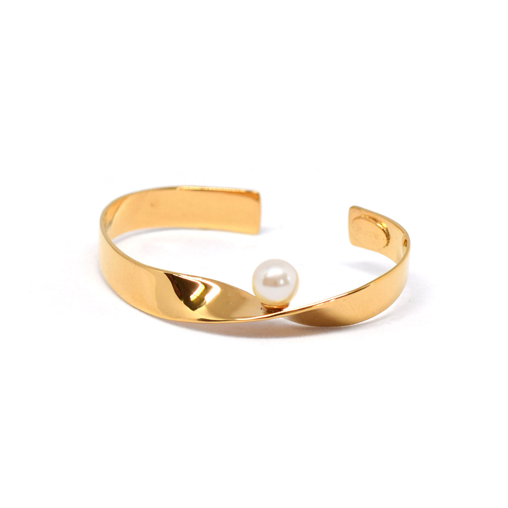 PEARL TWIST BANGLE - masae