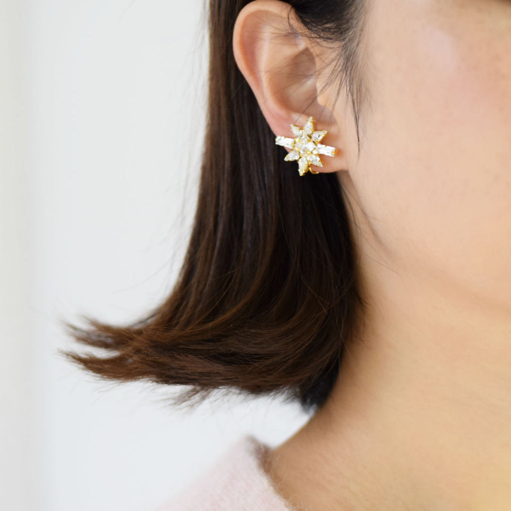STAR EARRINGS | STAR CLIP ON EARRINGS - masae
