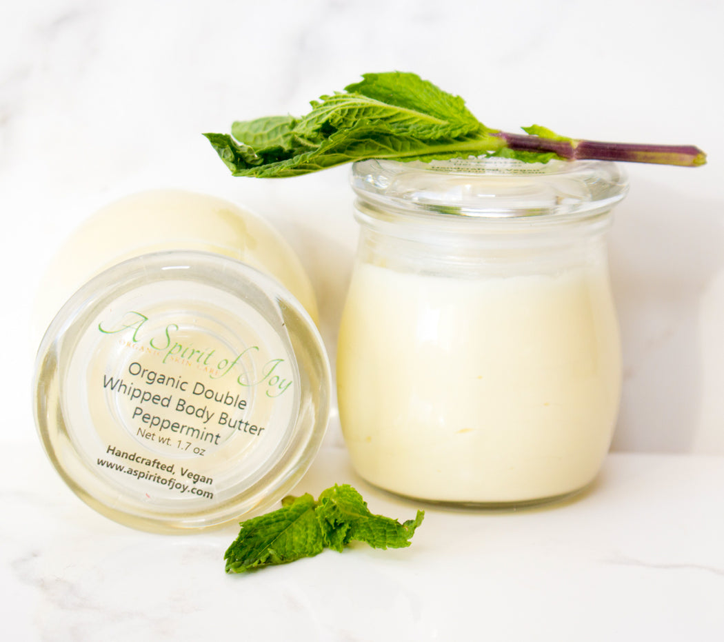 Organic Double Whipped Body Butter - Peppermint (Small size)