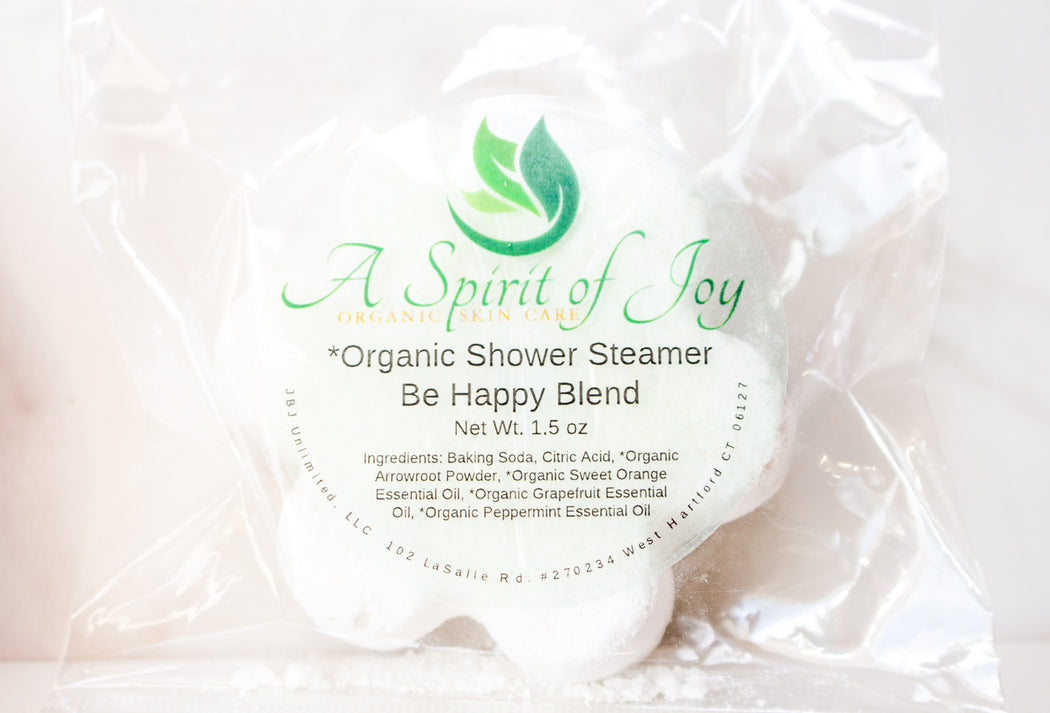 *Organic Aromatherapy Shower Steamer - Be Happy