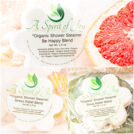 Any 2 *Organic Aromatherapy Shower Steamers