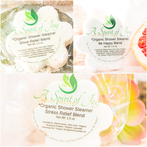 Any 3 *Organic Aromatherapy Shower Steamers