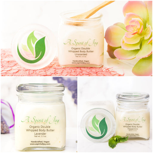 Any 3 Medium Jars of Organic Double Whipped Body Butter