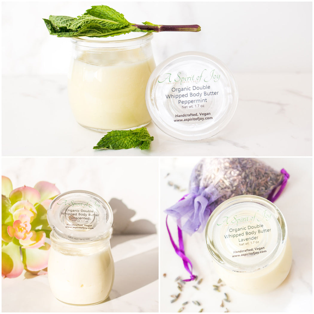 Any 3 Small Jars of Organic Double Whipped Body Butter