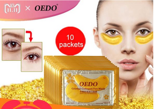 20pcs Eye Care Treatment & Mask Gold Crystal Collagen Skin Care Eye Patches Dark Circle Whitening Face Mask Care Effect
