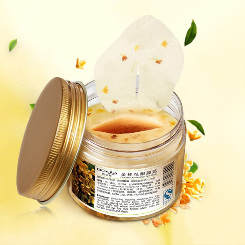80 pcs/ bottle BIOAQUA Gold Osmanthus eye mask Nourish Moisturizing Gentle skin care Women