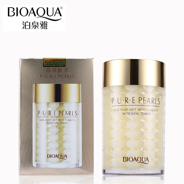 BIOAQUA Brand Pure Pearl Essence Sleeping Mask Face Skin Care Replenishment Korean Facial Cream Whitening Hydrating Night Masks
