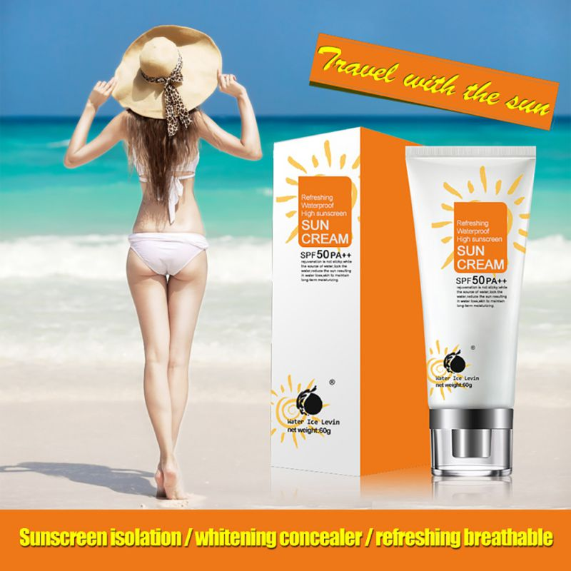 Sunscreen Cream Face Body SPF 50 Women UV Radiation Sun Protective UV Isolation Remove Sun Marks Cream