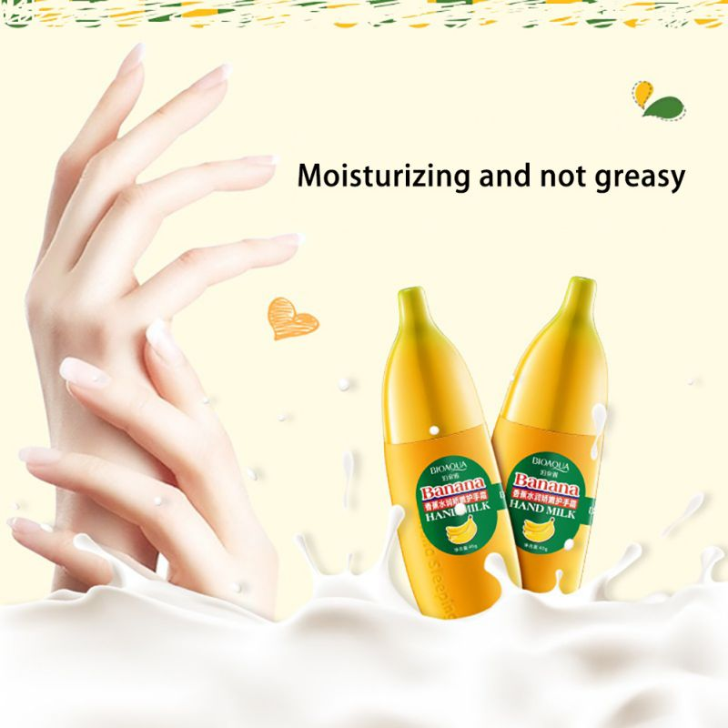 Lovely Banana Milk Hand Cream 40g Moisturizing Nourish Anti-chapping Hand Care Lotions Hand creme Skin Defender