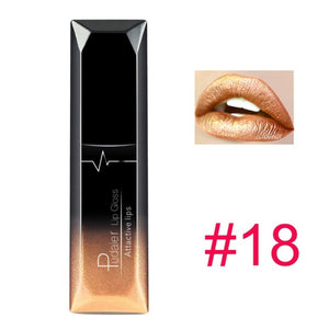 21 Colors Metallic Liquid Lip Gloss Waterproof Matte Lip Gold 24 Hours Long Lasting Velvet Lipstick Makeup Cosmetics