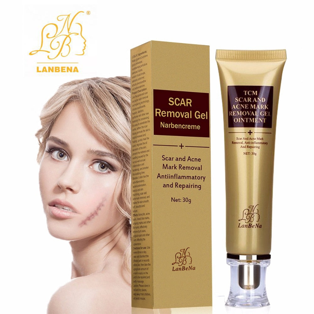 2018 Acne Scar Removal Scream Scar Remover 30ml Skin Repair Face Gel Treatment Acne Spots Blackhead Skin Whitening Cream