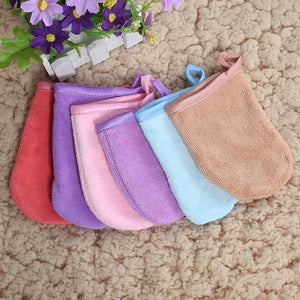 6 colors Reusable Microfiber face cleansing Glove tool Makeup Remover Cleansing Tool 13*10 cm