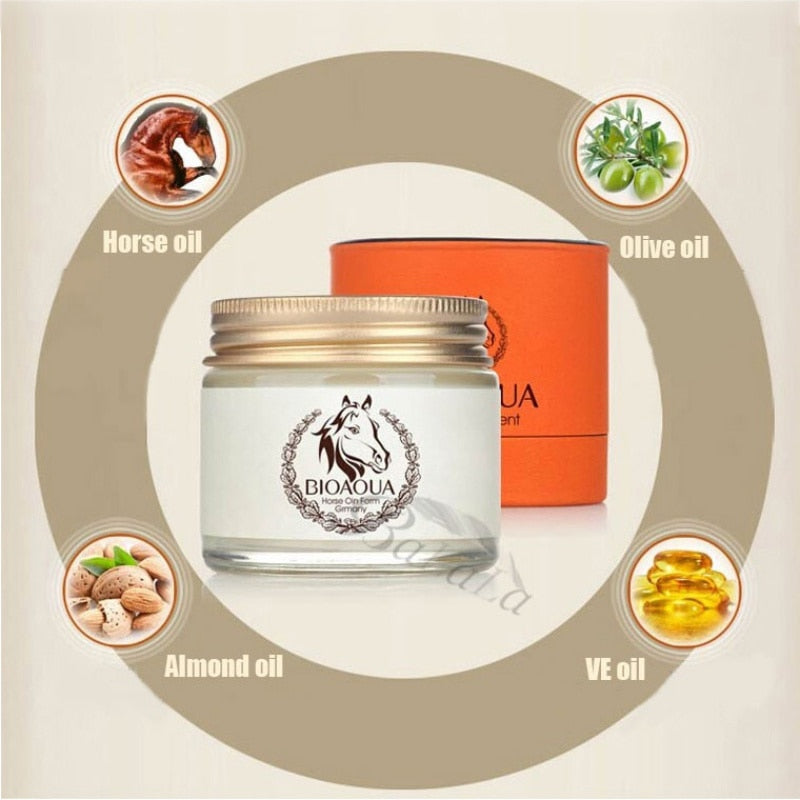 Anti Aging Cream Horse Oil Cream Scar Face Body Whitening Cream Ageless Korean Cosmetic Skin Care Whitening Moisturizing