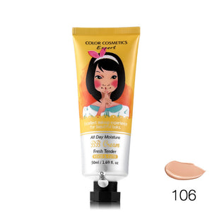 BB&CC Cream Korean Makeup Face Base Liquid Foundation Make Up Concealer Moisturizing Whitening Cosmetics 50ml