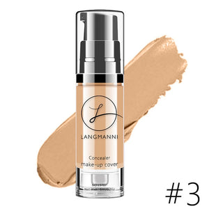 Langmanni 6 Colors Makeup Concealer Foundation Liquid Whitening Waterproof Make Up Contour BB Cream Korean Cosmetics TSLM2