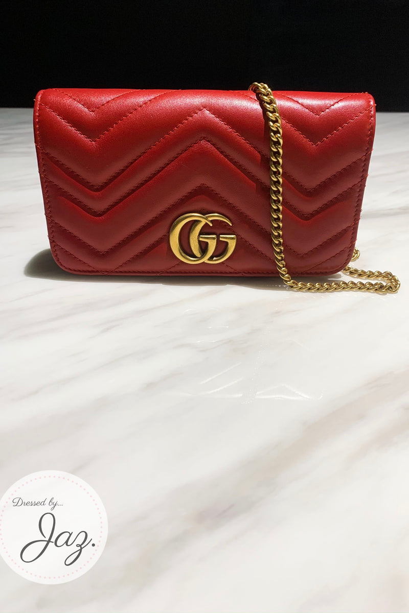 GG Marmont Shoulder Clutch