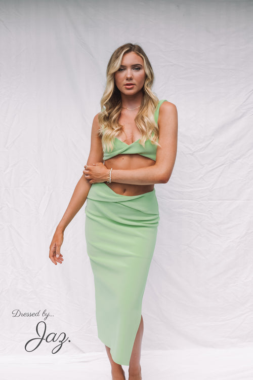 Clover Top and Midi Skirt Set