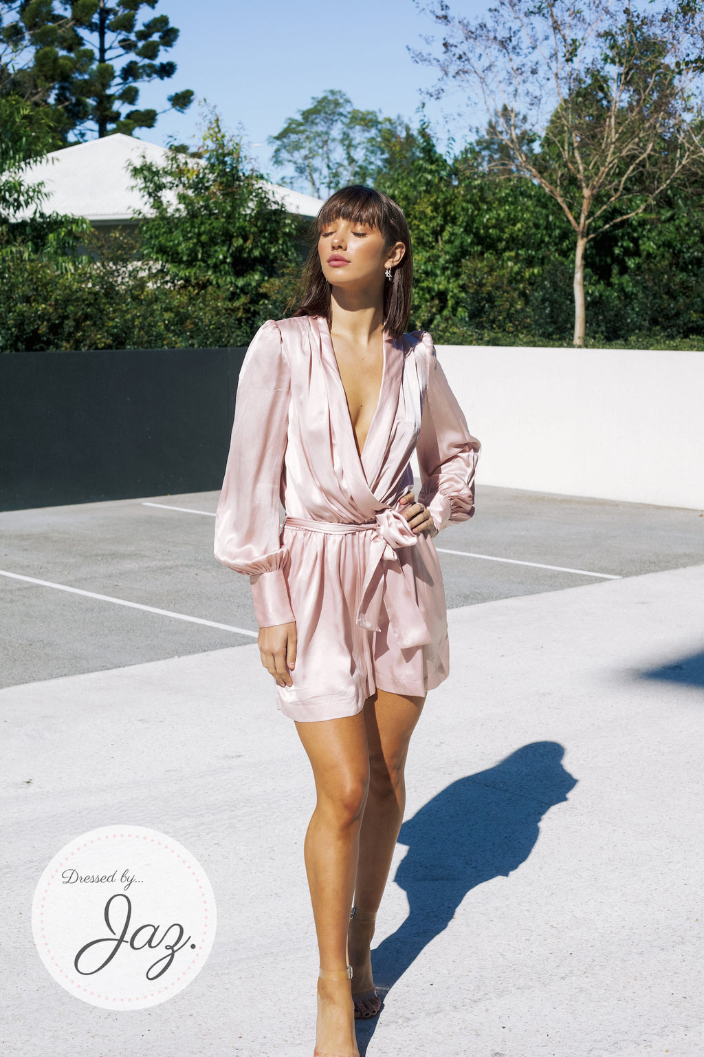 Silk Wrap Playsuit