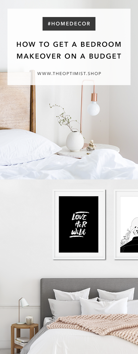 Bedroom Makeover - Bedroom decor, framed art prints on the wall