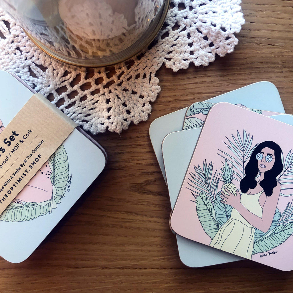 Coasters Set / Exotic Jungle-Coasters-The Optimist