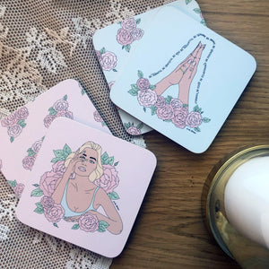 Coasters Set / La Vie En Rose-Coasters-The Optimist