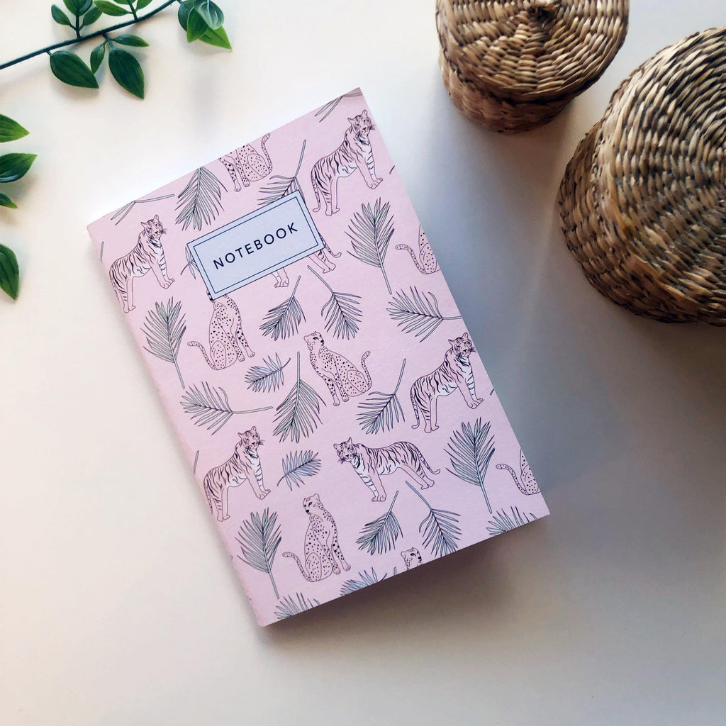 Stitched Notebook / Tigers Pattern - The Optimist Shop