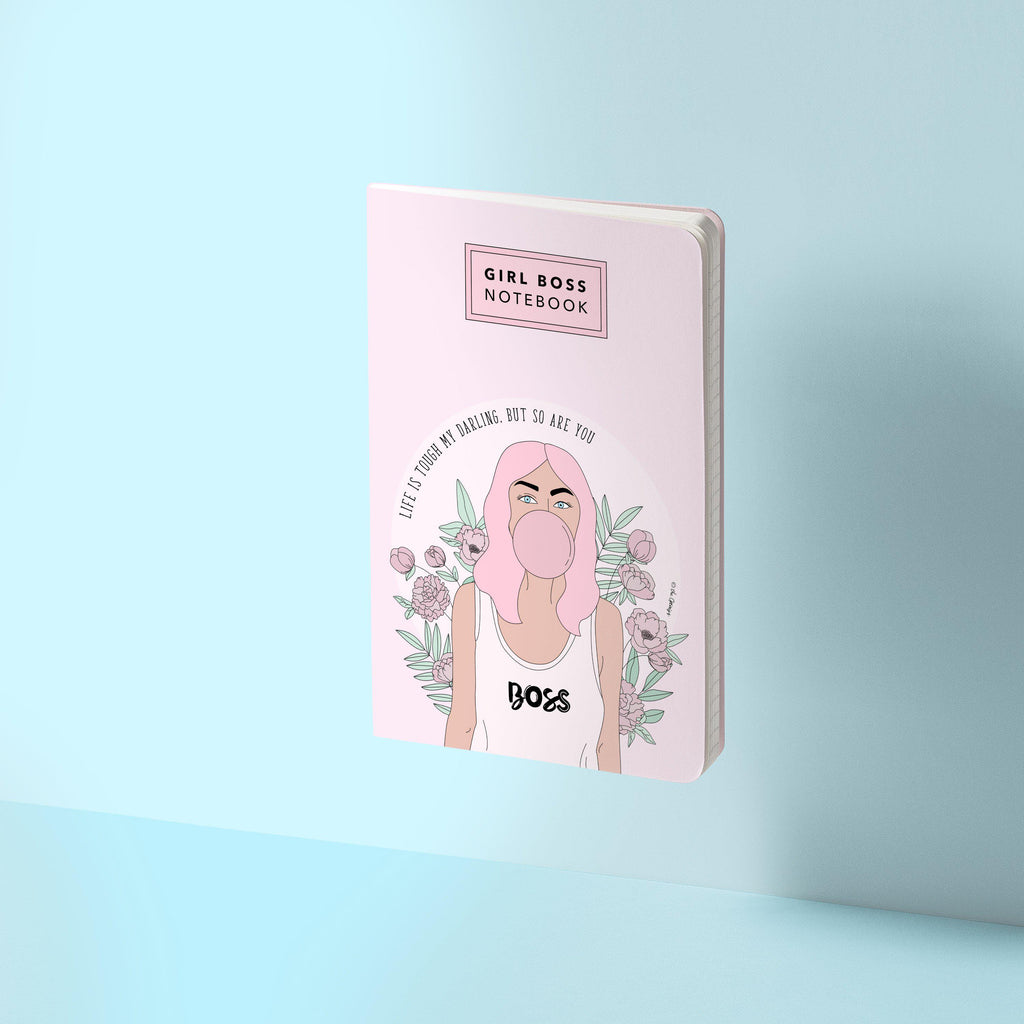 Stitched Notebook / Girl Boss Notebook Pink - The Optimist Shop