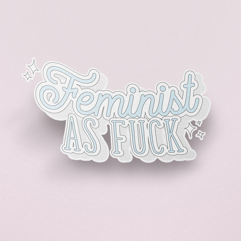 The Optimist Shop - Stickers / Feminist As F*** - Stickers
