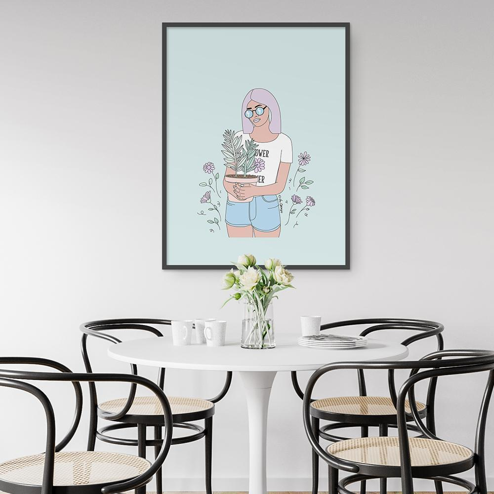 Giclée Art Print / Flower Power-Art Print-The Optimist