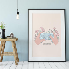 Giclée Art Print / Game On, Bitches-Art Print-The Optimist