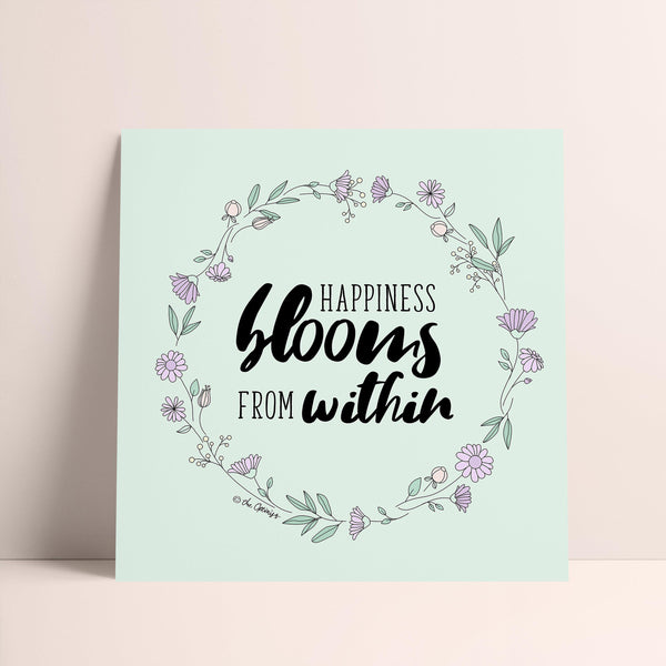 Giclée Art Print / Happiness Blooms From Within