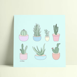Giclée Art Print / I Have A Thing With Cactus-Art Print-The Optimist