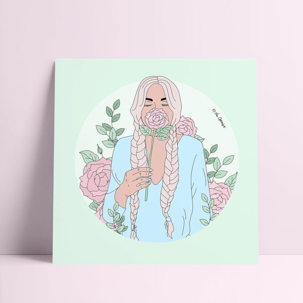 Giclée Art Print / Stop And Smell The Roses