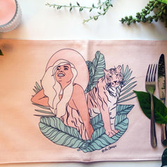 Placemat / Animal Instinct - Tiger-Placemat-The Optimist