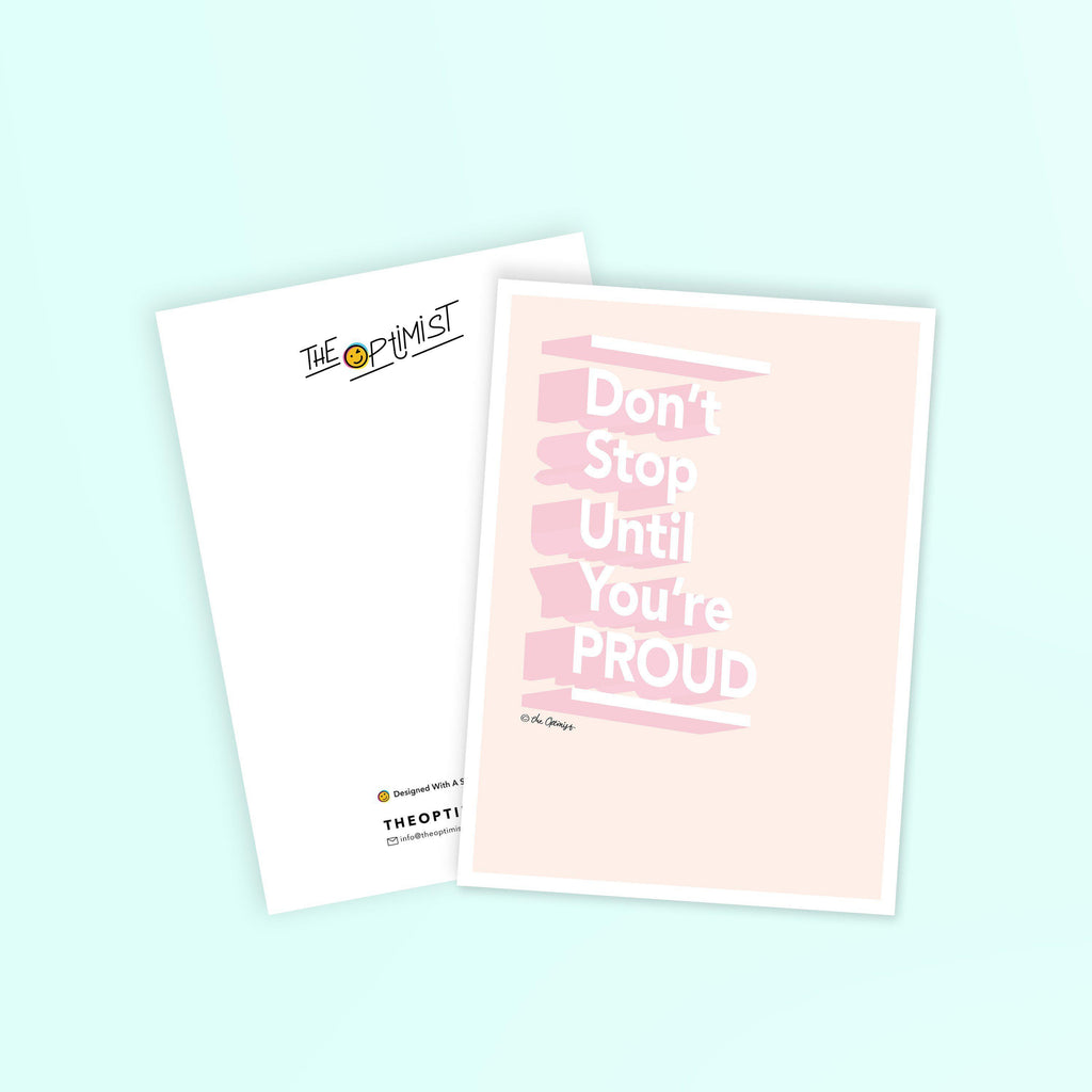 Postcards / Don't Stop Until You're Proud-Postcard-The Optimist