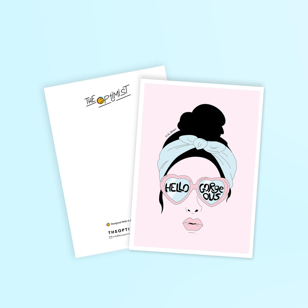 Postcards / Hello Gorgeous-Postcard-The Optimist