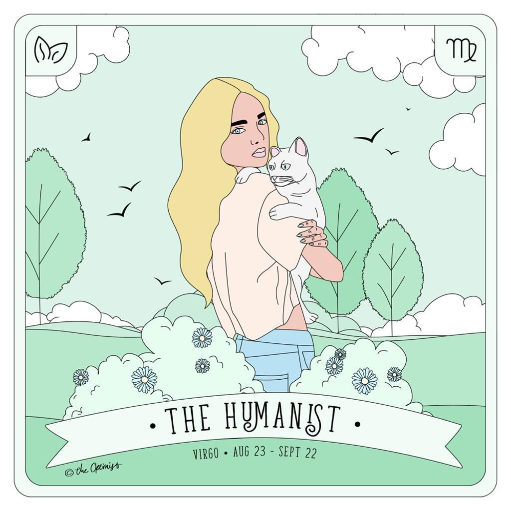 The Optimist Shop - Stickers / Virgo - The Humanist - Stickers