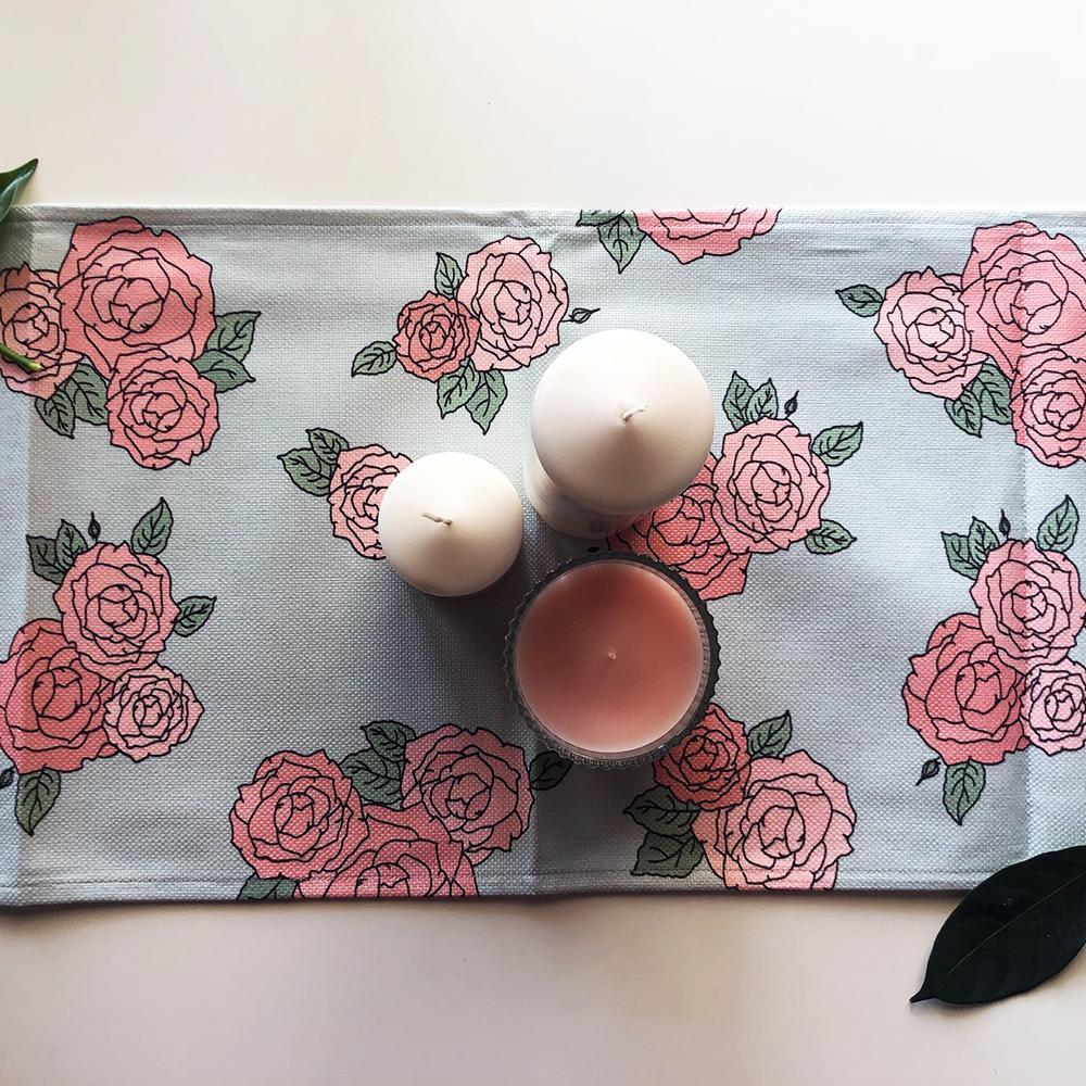 Table Runner / La Vie En Rose-Table Runner-The Optimist