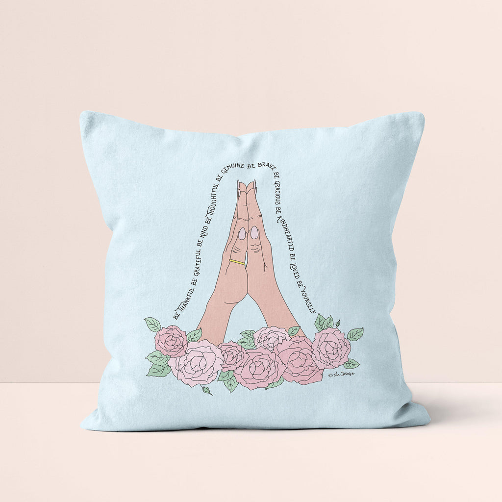 Throw Pillow / Be Thankful-Throw Pillow-The Optimist