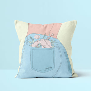 Throw Pillow / Sunshine In My Pocket-Throw Pillow-The Optimist