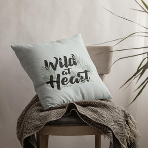 Throw Pillow / Wild At Heart-Throw Pillow-The Optimist