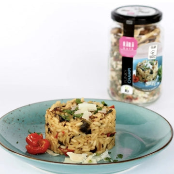 Risotto champi (2-3 pers) - Caution comprise (1€)