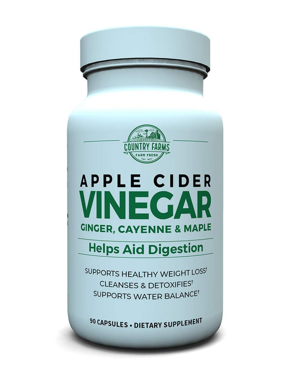 Country Farms Apple Cider Vinegar 500mg with Ginger, Cayenne and Maple