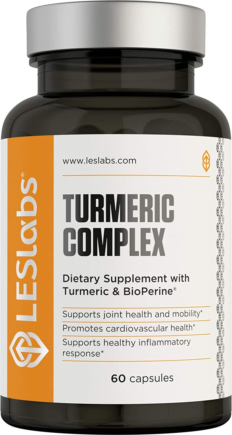Turmeric Curcumin - Joint Support Supplement for Mobility, Cardiovascular Health & Inflammatory Response with BioPerine & 95% Curcuminoids Extract, 700mg, 60 Capsules